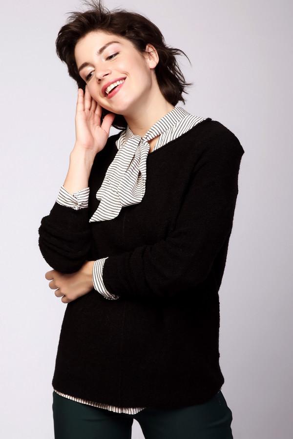Пуловер PezzoПуловеры<br><br><br>Размер RU: 46<br>Пол: Женский<br>Возраст: Взрослый<br>Материал: нейлон 20%, акрил 68%, шерсть 12%<br>Цвет: Чёрный