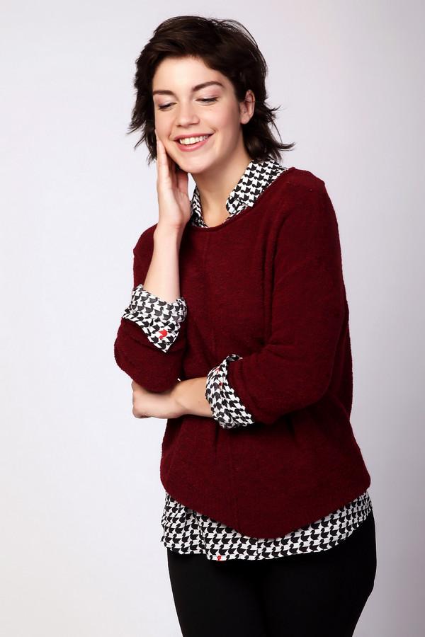Пуловер PezzoПуловеры<br><br><br>Размер RU: 50<br>Пол: Женский<br>Возраст: Взрослый<br>Материал: нейлон 20%, акрил 68%, шерсть 12%<br>Цвет: Бордовый