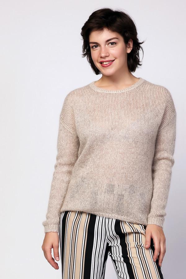 Пуловер PezzoПуловеры<br><br><br>Размер RU: 48<br>Пол: Женский<br>Возраст: Взрослый<br>Материал: полиэстер 13%, нейлон 24%, мохер 40%, шерсть 16%, металл 7%<br>Цвет: Бежевый