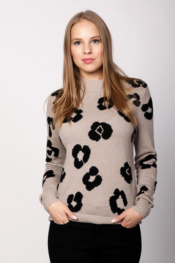 Пуловер PezzoПуловеры<br>Бежевый пуловер от бренда Pezzo выполнен из мягкого трикотажного материала мелкой вязки. Изделие прямого кроя дополнено воротником-стойка и длинными рукавами. Пуловер оформлен контрастным вязанным узором, который добавить необычности вашему образу.<br><br>Размер RU: 52<br>Пол: Женский<br>Возраст: Взрослый<br>Материал: вискоза 33%, полиамид 23%, шерсть 20%, хлопок 20%, кашемир 4%<br>Цвет: Бежевый