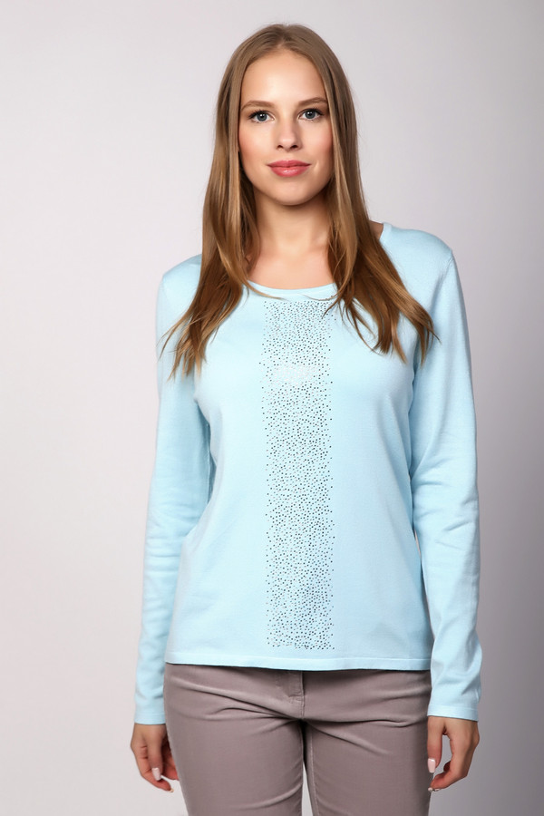 Пуловер PezzoПуловеры<br><br><br>Размер RU: 48<br>Пол: Женский<br>Возраст: Взрослый<br>Материал: полиамид 32%, вискоза 68%<br>Цвет: Голубой