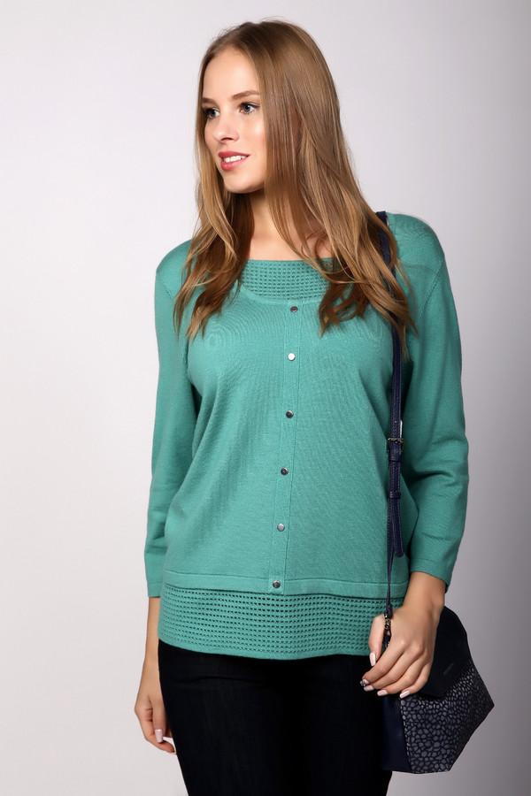 Пуловер PezzoПуловеры<br><br><br>Размер RU: 52<br>Пол: Женский<br>Возраст: Взрослый<br>Материал: полиамид 35%, вискоза 46%, шерсть 19%<br>Цвет: Зелёный
