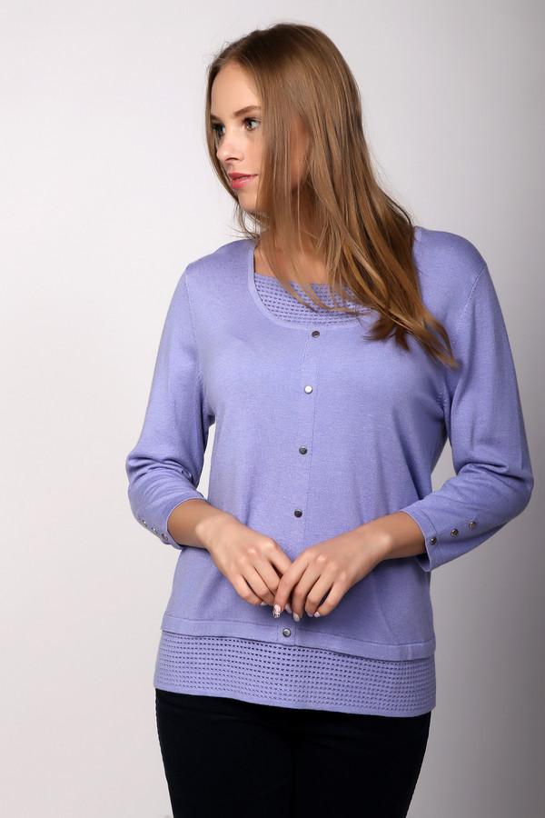 Пуловер PezzoПуловеры<br><br><br>Размер RU: 48<br>Пол: Женский<br>Возраст: Взрослый<br>Материал: полиамид 35%, вискоза 46%, шерсть 19%<br>Цвет: Сиреневый