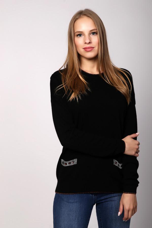 Пуловер PezzoПуловеры<br><br><br>Размер RU: 54<br>Пол: Женский<br>Возраст: Взрослый<br>Материал: вискоза 33%, полиамид 23%, шерсть 20%, хлопок 20%, кашемир 4%<br>Цвет: Чёрный