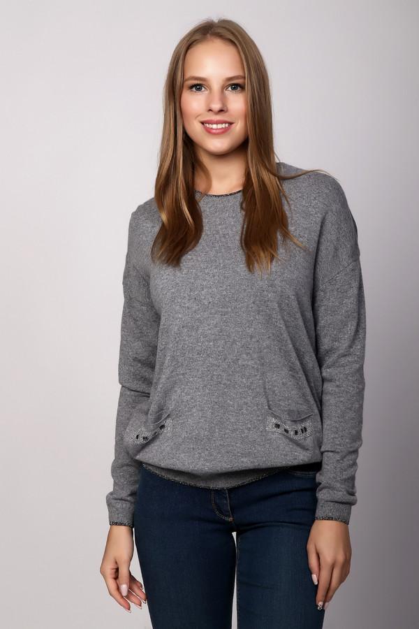 Пуловер PezzoПуловеры<br><br><br>Размер RU: 52<br>Пол: Женский<br>Возраст: Взрослый<br>Материал: вискоза 33%, полиамид 23%, шерсть 20%, хлопок 20%, кашемир 4%<br>Цвет: Серый