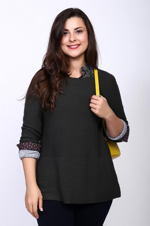 Пуловер OuiПуловеры<br><br><br>Размер RU: 48<br>Пол: Женский<br>Возраст: Взрослый<br>Материал: вискоза 50%, хлопок 40%, шелк 10%<br>Цвет: Зелёный
