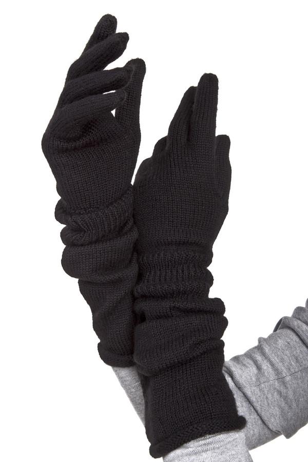 Перчатки SeebergerПерчатки<br>Черные перчатки Seeberger завышенного кроя. Изделие дополнено эластичной трикотажной резинкой на запястье.   Без подкладки.<br><br>Размер RU: один размер<br>Пол: Женский<br>Возраст: Взрослый<br>Материал: шерсть 50%, полиакрил 50%<br>Цвет: Чёрный