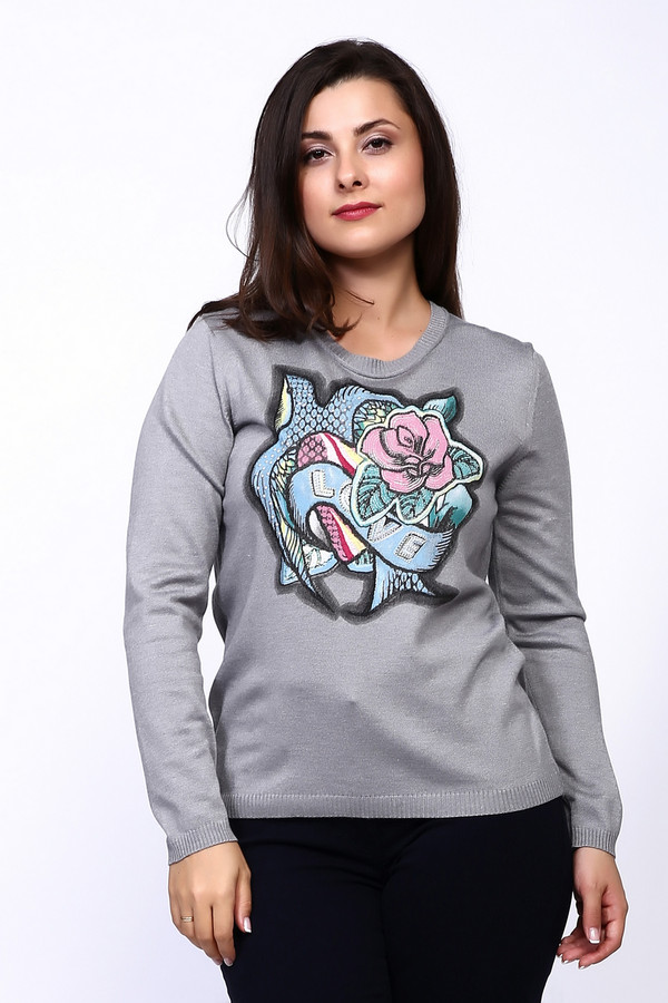 Пуловер Rabe collectionПуловеры<br><br><br>Размер RU: 52<br>Пол: Женский<br>Возраст: Взрослый<br>Материал: полиэстер 30%, шелк 10%, полиамид 22%, вискоза 38%<br>Цвет: Серый