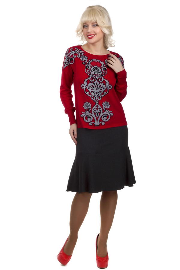 Юбка SteilmannЮбки<br>Зимняя элегантная юбка Steilmann темно- серого цвета. Она выполнена из полиэстера, шерсти и вискозы. Сверху юбка сидит по фигуре, а к низу расширяется. Эта модель, благодаря своему крою, скроет все недостатки фигуры. Эта юбка может стать хорошей основой для любого повседневного женственного образа.<br><br>Размер RU: 50<br>Пол: Женский<br>Возраст: Взрослый<br>Материал: полиэстер 50%, шерсть 26%, вискоза 24%<br>Цвет: Серый