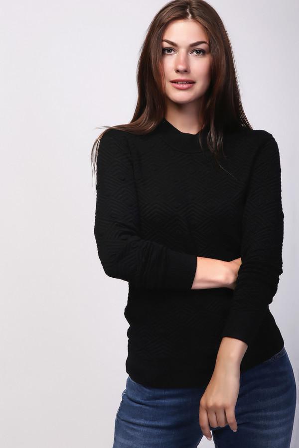Пуловер Just ValeriПуловеры<br><br><br>Размер RU: 42<br>Пол: Женский<br>Возраст: Взрослый<br>Материал: эластан 2%, полиамид 17%, вискоза 81%<br>Цвет: Чёрный