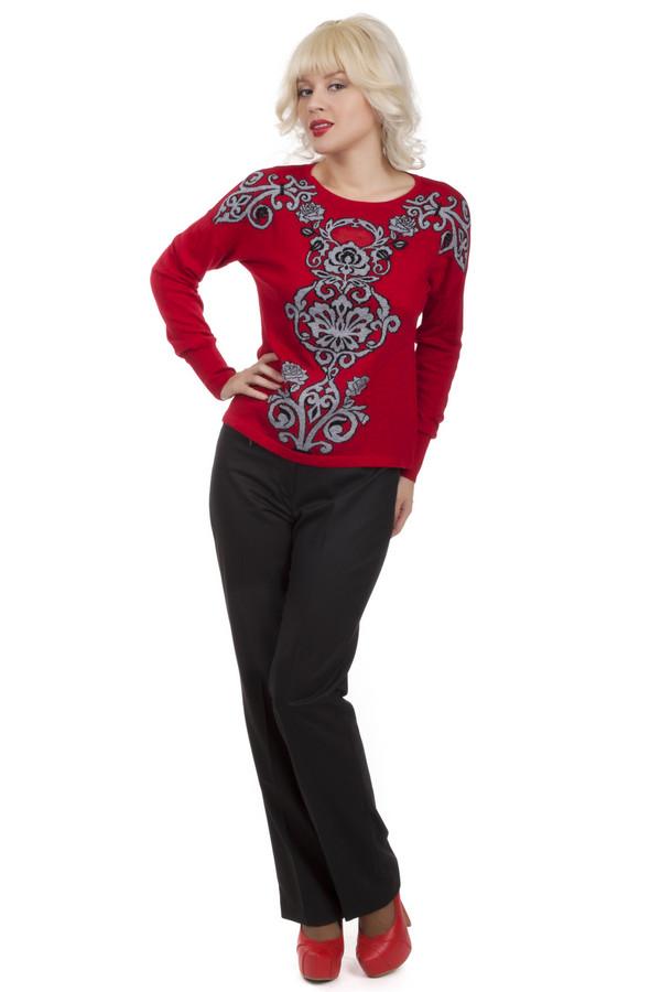Брюки SteilmannБрюки<br>Классические женские брюки от бренда Steilmann черного цвета. Это брюки с высокой талией, прямого покроя и со стрелками. Изделие дополнено: шлевками для ремня и застежкой-молния с пуговицей. На поясе есть небольшой карман на молнии. Такие классические брюки должны быть в гардеробе каждой женщины. Брюки такого типа это неотъемлемая часть офисного гардероба. Их легко сочетать как с классическими белыми рубашками, так и с яркими свитерами.<br><br>Размер RU: 42<br>Пол: Женский<br>Возраст: Взрослый<br>Материал: эластан 2%, полиэстер 60%, шерсть 22%, вискоза 16%<br>Цвет: Чёрный