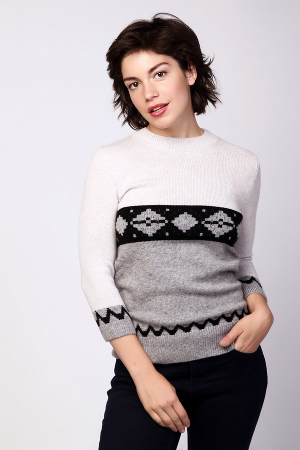 Пуловер Just ValeriПуловеры<br><br><br>Размер RU: 46<br>Пол: Женский<br>Возраст: Взрослый<br>Материал: шерсть 70%, кашемир 30%<br>Цвет: Разноцветный