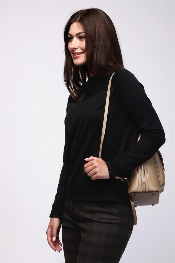 Пуловер PezzoПуловеры<br><br><br>Размер RU: 48<br>Пол: Женский<br>Возраст: Взрослый<br>Материал: полиамид 32%, вискоза 68%<br>Цвет: Чёрный