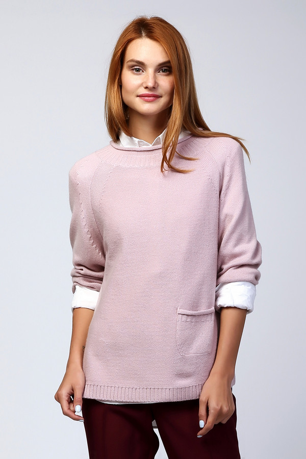 Пуловер Just ValeriПуловеры<br><br><br>Размер RU: 42<br>Пол: Женский<br>Возраст: Взрослый<br>Материал: шерсть 80%, кашемир 20%<br>Цвет: Розовый