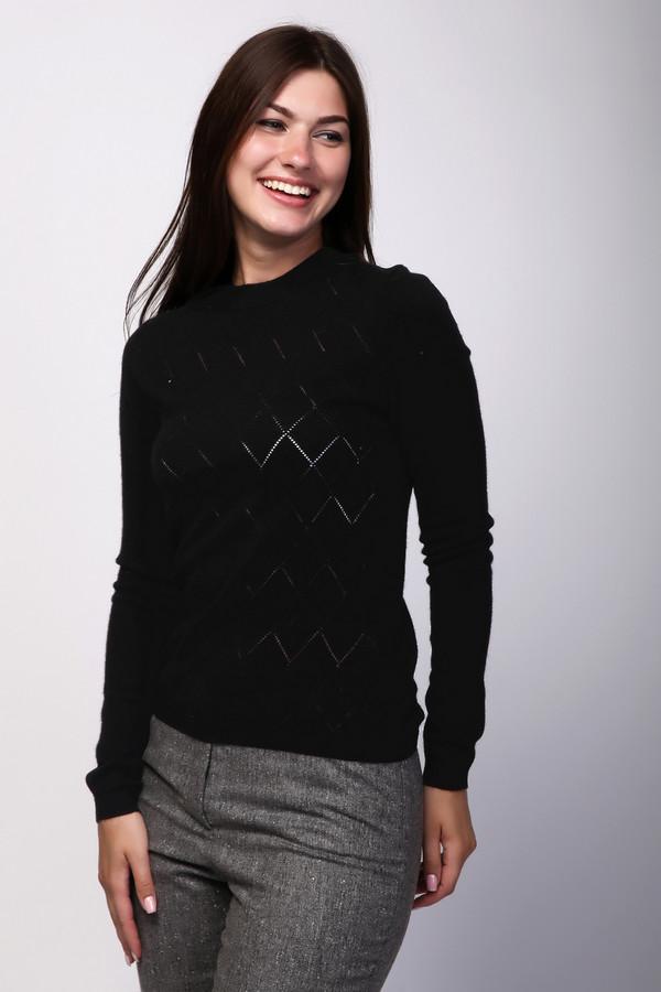 Пуловер Just ValeriПуловеры<br><br><br>Размер RU: 44<br>Пол: Женский<br>Возраст: Взрослый<br>Материал: шерсть 80%, кашемир 20%<br>Цвет: Чёрный