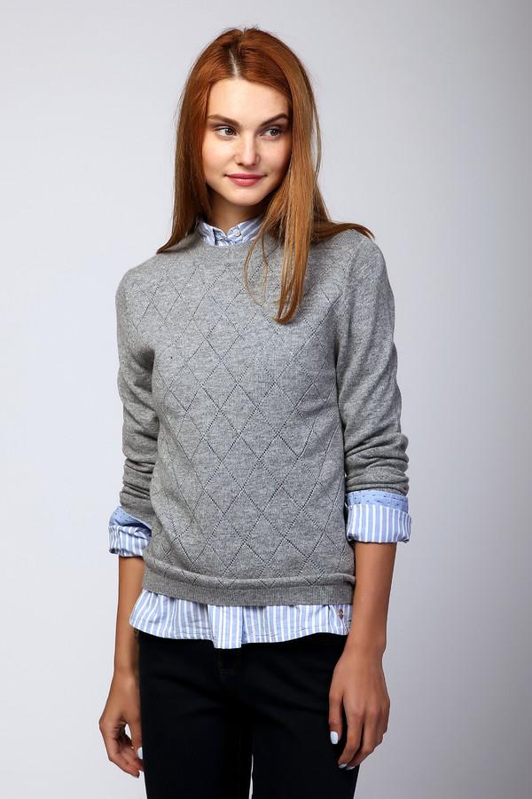 Пуловер Just ValeriПуловеры<br><br><br>Размер RU: 44<br>Пол: Женский<br>Возраст: Взрослый<br>Материал: шерсть 80%, кашемир 20%<br>Цвет: Серый