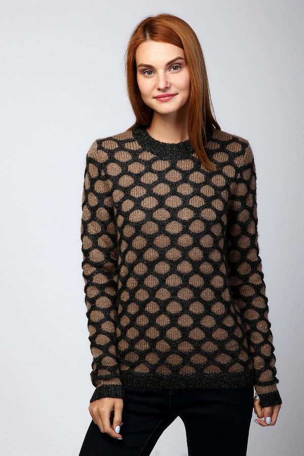 Пуловер PezzoПуловеры<br><br><br>Размер RU: 52<br>Пол: Женский<br>Возраст: Взрослый<br>Материал: мохер 15%, акрил 55%, нейлон 30%<br>Цвет: Разноцветный