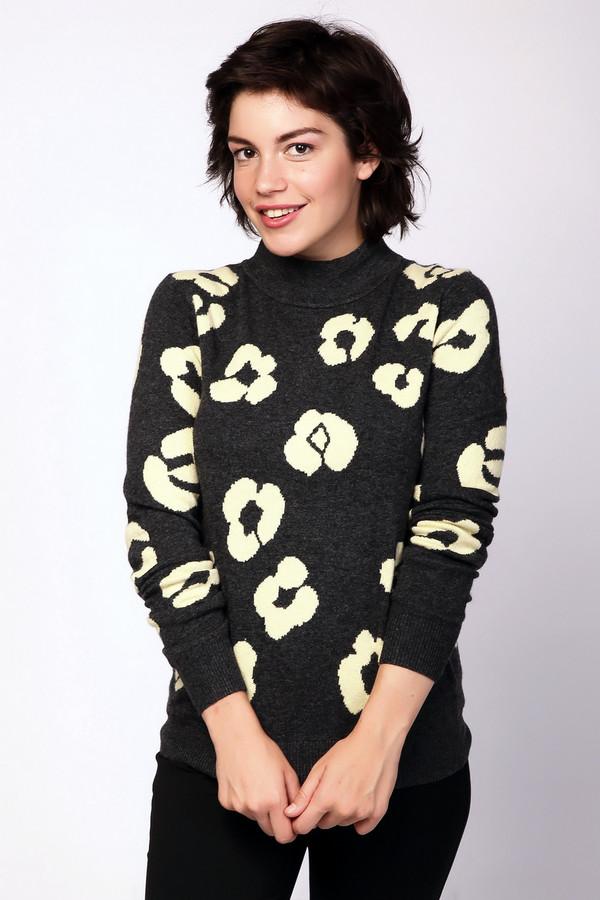Пуловер PezzoПуловеры<br>Оригинальный пуловер от бренда Pezzo выполнен из теплого трикотажного материала мелкой вязки. Изделие прямого кроя дополнено воротником-стойка и длинными рукавами. Пуловер оформлен контрастным вязанным узором, который добавить необычности вашему образу. Отличный вариант для встречи с подругами.<br><br>Размер RU: 50<br>Пол: Женский<br>Возраст: Взрослый<br>Материал: вискоза 33%, полиамид 23%, шерсть 20%, хлопок 20%, кашемир 4%<br>Цвет: Серый