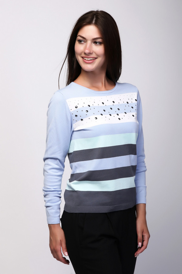 Пуловер PezzoПуловеры<br><br><br>Размер RU: 52<br>Пол: Женский<br>Возраст: Взрослый<br>Материал: полиамид 32%, вискоза 68%<br>Цвет: Разноцветный