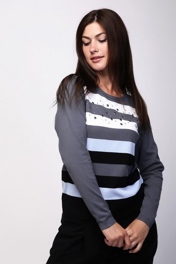 Пуловер PezzoПуловеры<br><br><br>Размер RU: 46<br>Пол: Женский<br>Возраст: Взрослый<br>Материал: полиамид 32%, вискоза 68%<br>Цвет: Разноцветный
