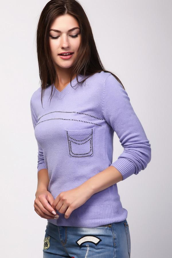 Пуловер PezzoПуловеры<br><br><br>Размер RU: 52<br>Пол: Женский<br>Возраст: Взрослый<br>Материал: вискоза 33%, полиамид 23%, шерсть 20%, хлопок 20%, кашемир 4%<br>Цвет: Сиреневый