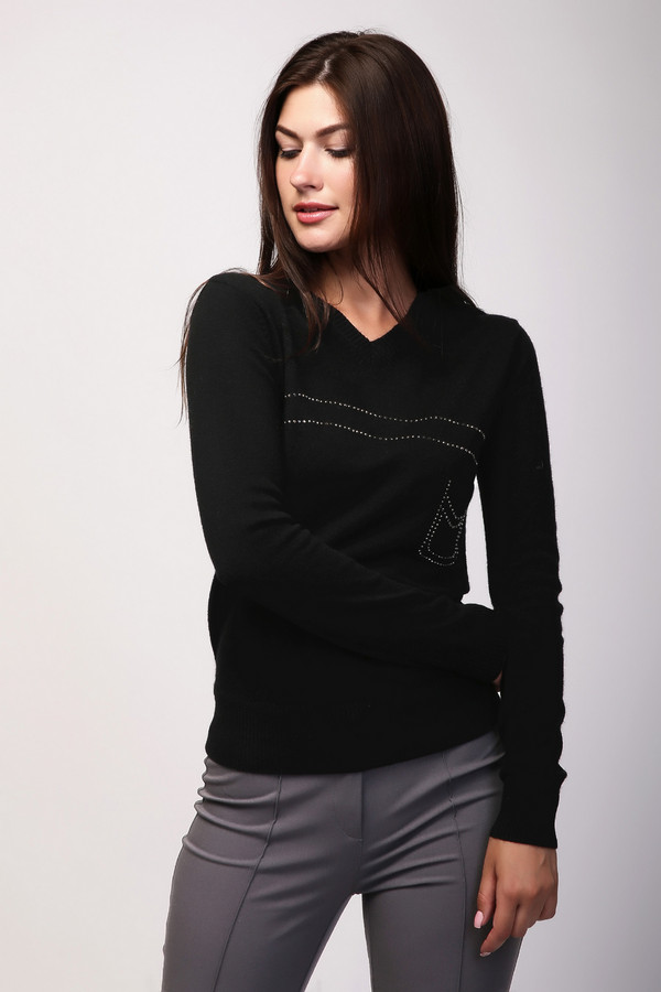 Пуловер PezzoПуловеры<br><br><br>Размер RU: 52<br>Пол: Женский<br>Возраст: Взрослый<br>Материал: вискоза 33%, полиамид 23%, шерсть 20%, хлопок 20%, кашемир 4%<br>Цвет: Чёрный