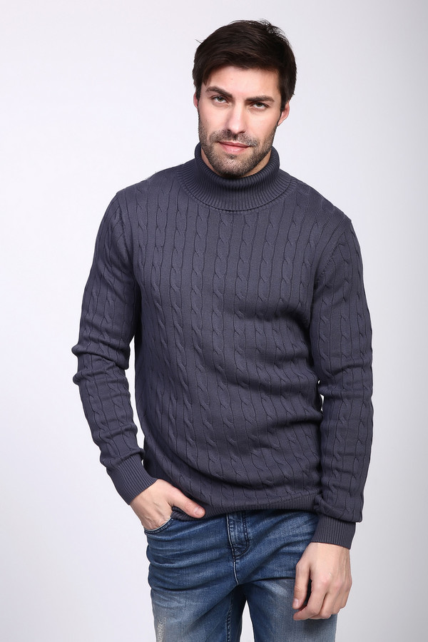 Джемпер PezzoДжемперы и Пуловеры<br><br><br>Размер RU: 48<br>Пол: Мужской<br>Возраст: Взрослый<br>Материал: хлопок 100%<br>Цвет: Серый