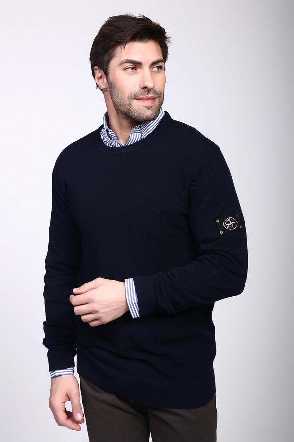 Джемпер PezzoДжемперы и Пуловеры<br><br><br>Размер RU: 50<br>Пол: Мужской<br>Возраст: Взрослый<br>Материал: хлопок 100%<br>Цвет: Синий