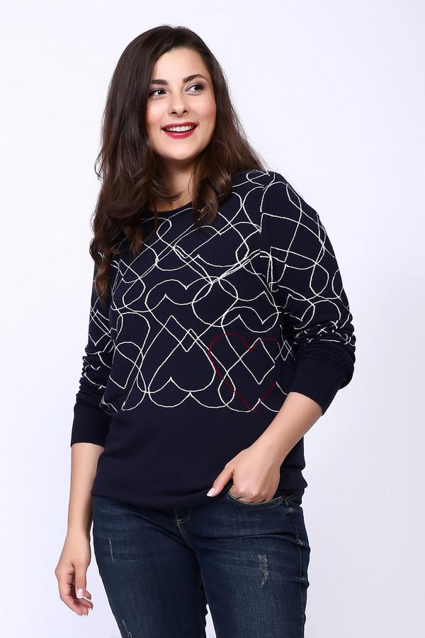 Пуловер Rabe collectionПуловеры<br><br><br>Размер RU: 48<br>Пол: Женский<br>Возраст: Взрослый<br>Материал: эластан 3%, вискоза 97%<br>Цвет: Синий