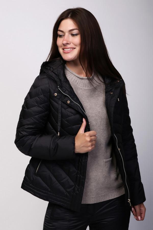 Куртка PezzoКуртки<br><br><br>Размер RU: 44<br>Пол: Женский<br>Возраст: Взрослый<br>Материал: нейлон 100%, Состав_подкладка нейлон 100%, Состав_наполнитель пух 90%, Состав_наполнитель перо 10%<br>Цвет: Чёрный