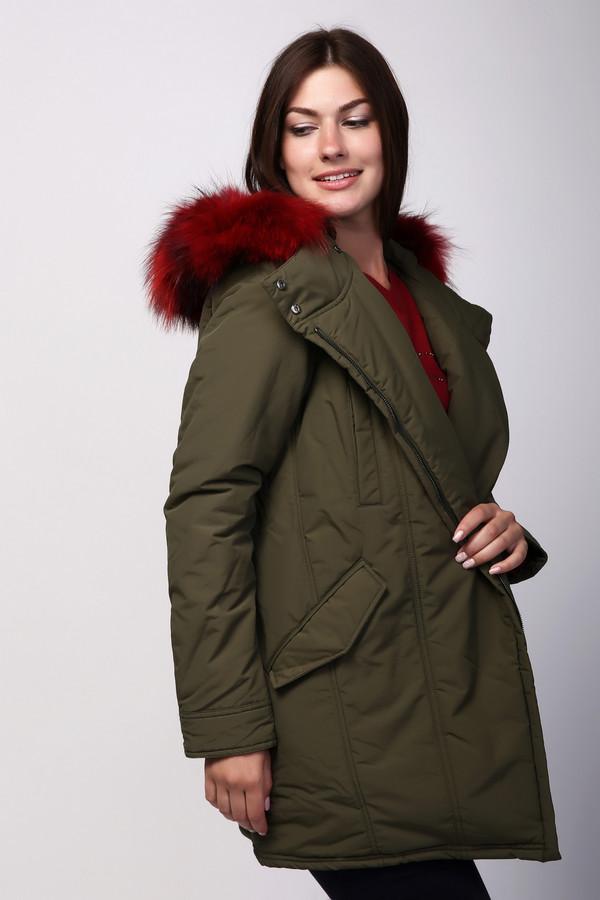 Купить Куртка Just Valeri, Китай, Разноцветный, хлопок 63%, нейлон 37%, Состав_подкладка полиэстер 100%, мех енота 100%, Состав_наполнитель полиэстер 100%