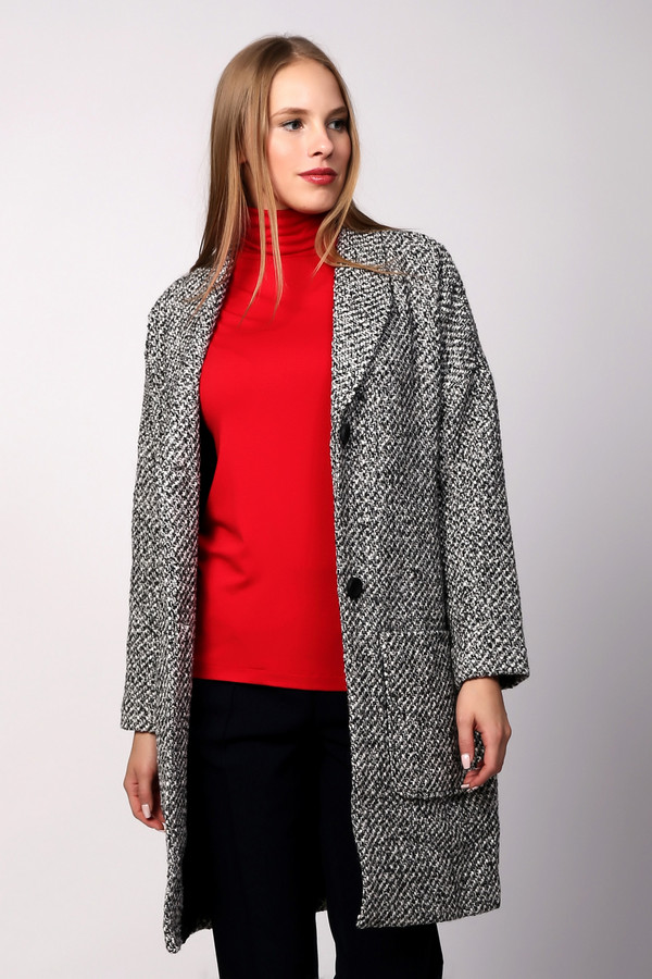 Пальто PezzoПальто<br><br><br>Размер RU: 46<br>Пол: Женский<br>Возраст: Взрослый<br>Материал: шерсть 30%, полиэстер 70%, Состав_подкладка полиэстер 100%<br>Цвет: Серый