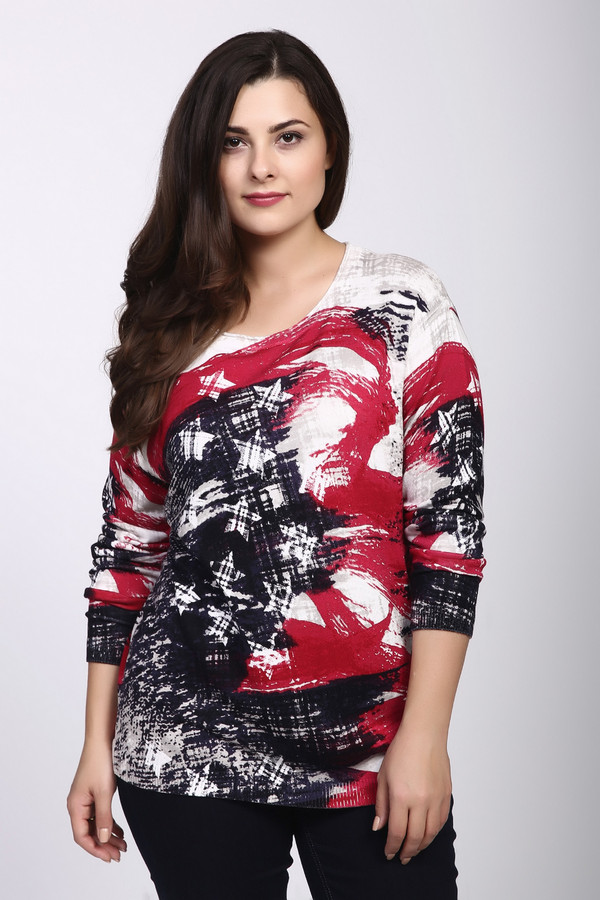 Пуловер Frank WalderПуловеры<br><br><br>Размер RU: 54<br>Пол: Женский<br>Возраст: Взрослый<br>Материал: полиамид 22%, вискоза 78%<br>Цвет: Разноцветный
