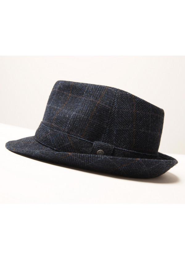 Шляпа WegenerШляпы<br><br><br>Размер RU: 60<br>Пол: Мужской<br>Возраст: Взрослый<br>Материал: шерсть 100%<br>Цвет: Синий