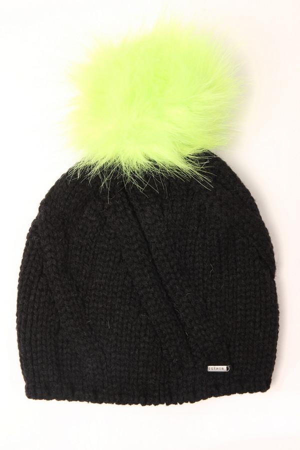 женская шапка wegener, черная