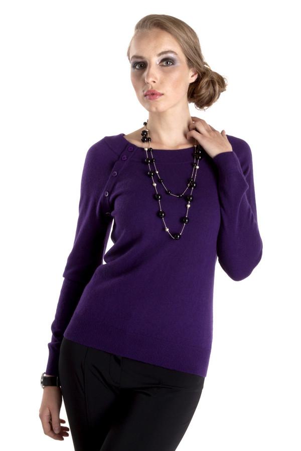 Пуловер PezzoПуловеры<br>Фиолетовый женский пуловер Pezzo приталенного кроя. Изделие дополнено: круглым вырезом и рукавами-реглан. Ворот, манжеты и нижний кант оформлены трикотажной резинкой. Рукава декорированы фурнитурой в цвет изделия.<br><br>Размер RU: 44<br>Пол: Женский<br>Возраст: Взрослый<br>Материал: вискоза 33%, хлопок 18%, полиамид 23%, шерсть 18%, кашемир 4%, ангора 4%<br>Цвет: Фиолетовый