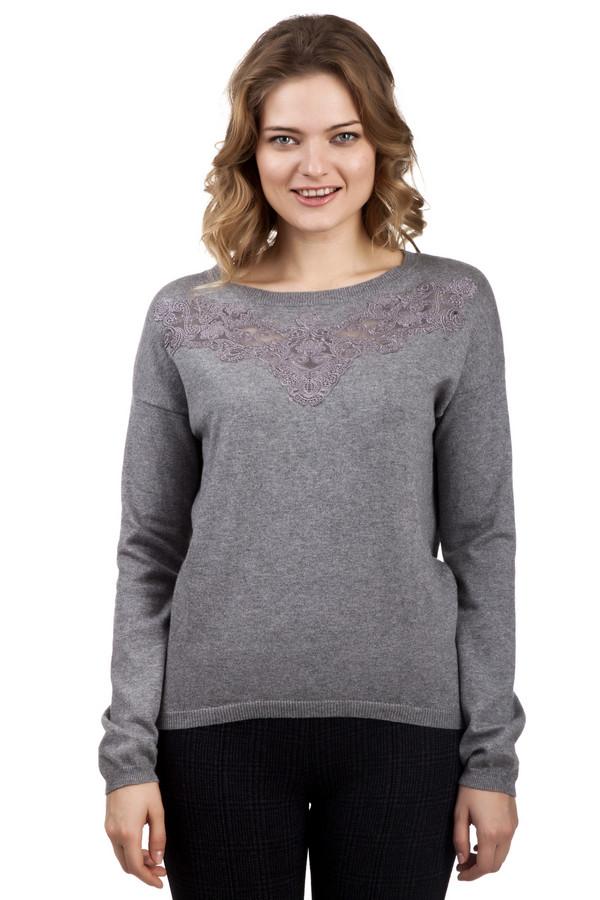 Пуловер GardeurПуловеры<br>Женственный пуловер от бренда Gardeur прямого кроя выполнен из приятной на ощупь мягкой пряжи серого цвета. Изделие дополнено: вырезом- лодочка и длинными рукавами с заниженной линией плеча. Ворот, манжеты и нижний кант оформлены эластичной резинкой. Зона декольте декорирована вставкой из кружева в цвет изделия.<br><br>Размер RU: 48<br>Пол: Женский<br>Возраст: Взрослый<br>Материал: полиамид 20%, шерсть 10%, вискоза 12%, хлопок 55%, кашемир 3%<br>Цвет: Серый