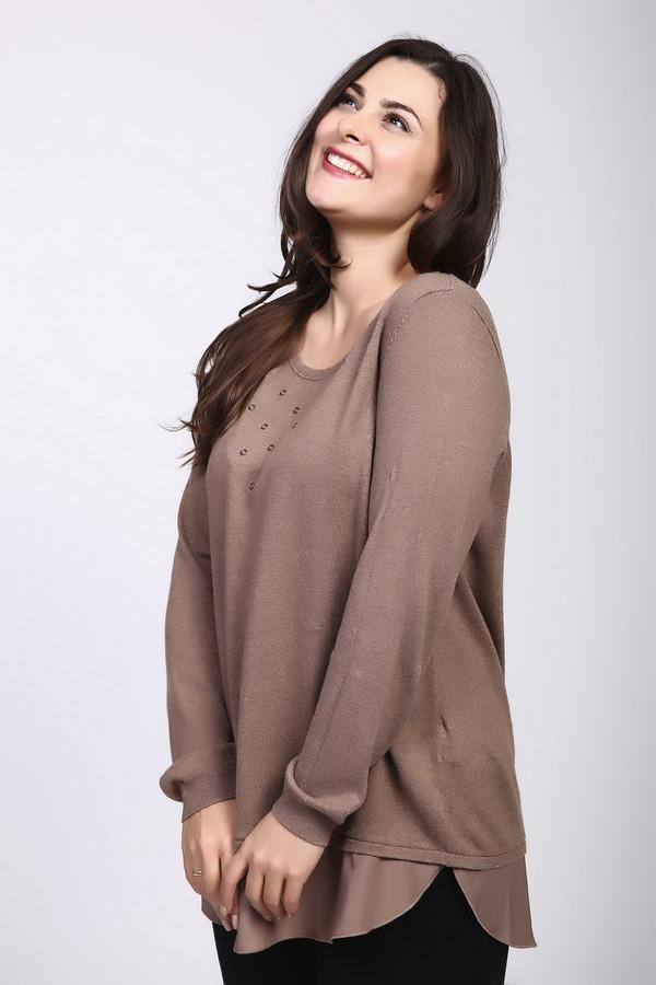 Пуловер SamoonПуловеры<br><br><br>Размер RU: 48<br>Пол: Женский<br>Возраст: Взрослый<br>Материал: кашемир 5%, вискоза 30%, хлопок 65%<br>Цвет: Коричневый