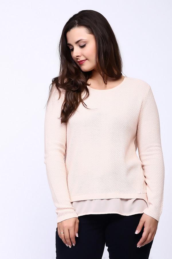 Пуловер Betty BarclayПуловеры<br>Пуловер розового цвета фирмы Betty Barclay. Ткань состоит из 40% полиакрила и 60% хлопка. Модель выполнена прямым покроем. Пуловер дополнен округлым воротом, втачным длинным рукавом. Такая модель с розовым оттенком, позволит объединить весь ваш образ. Особенно может сочетаться с облегающими брюками темного цвета.