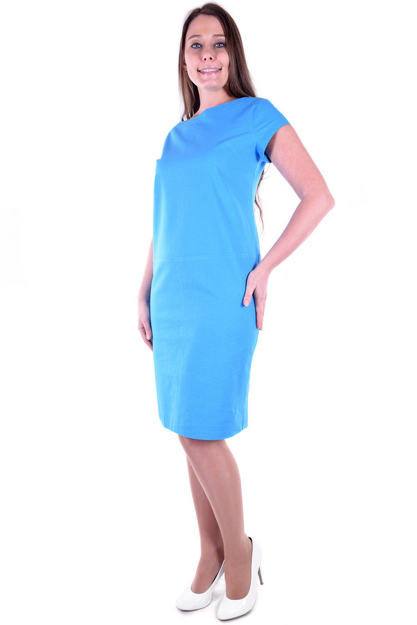 Платье OLBEПлатья<br><br><br>Размер RU: 56<br>Пол: Женский<br>Возраст: Взрослый<br>Материал: хлопок 15%, лен 85%<br>Цвет: Голубой
