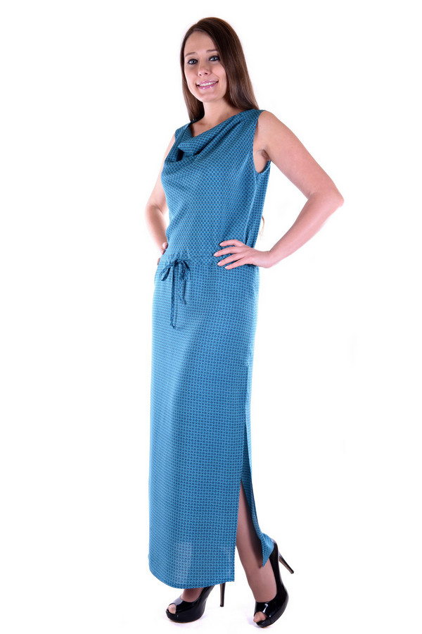 Платье OLBEПлатья<br><br><br>Размер RU: 54<br>Пол: Женский<br>Возраст: Взрослый<br>Материал: хлопок 60%, вискоза 40%<br>Цвет: Синий