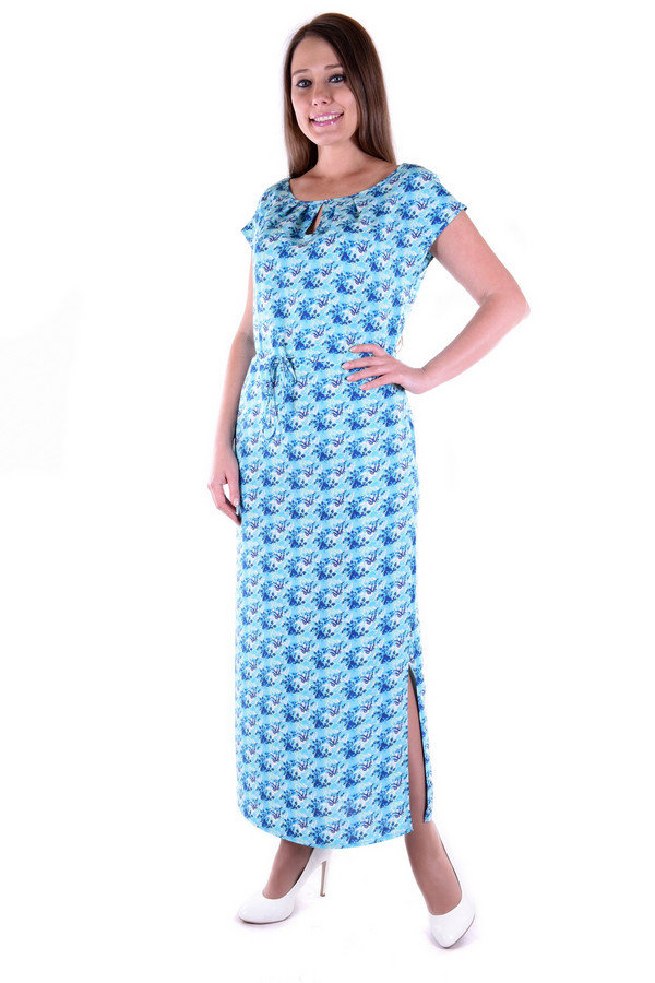 Платье OLBEПлатья<br><br><br>Размер RU: 52<br>Пол: Женский<br>Возраст: Взрослый<br>Материал: хлопок 60%, вискоза 40%<br>Цвет: Голубой