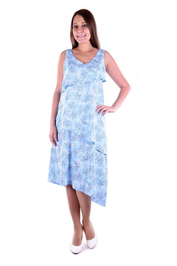 Платье OLBEПлатья<br><br><br>Размер RU: 46<br>Пол: Женский<br>Возраст: Взрослый<br>Материал: вискоза 100%<br>Цвет: Голубой