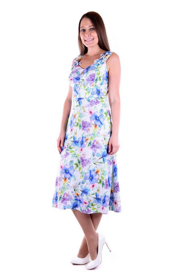 Платье OLBEПлатья<br><br><br>Размер RU: 48<br>Пол: Женский<br>Возраст: Взрослый<br>Материал: вискоза 100%<br>Цвет: Разноцветный