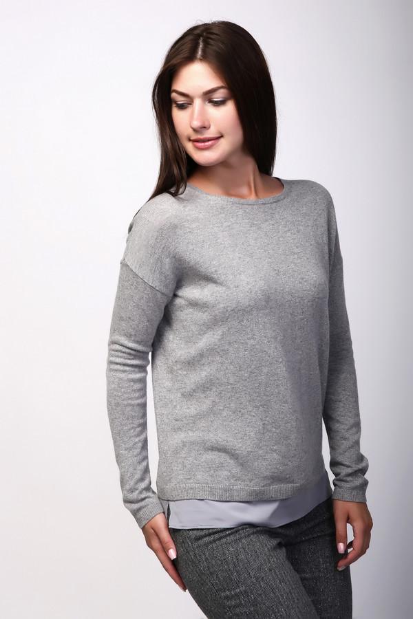 Пуловер BraxПуловеры<br><br><br>Размер RU: 46<br>Пол: Женский<br>Возраст: Взрослый<br>Материал: полиамид 35%, шерсть 22%, вискоза 38%, альпака 5%<br>Цвет: Серый