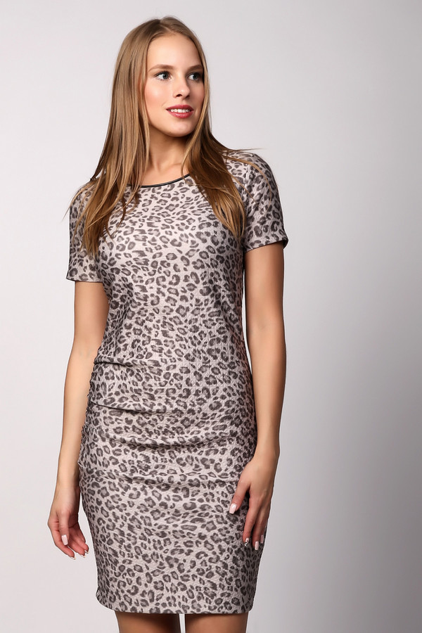 Платье Marc AurelПлатья<br><br><br>Размер RU: 48<br>Пол: Женский<br>Возраст: Взрослый<br>Материал: эластан 5%, полиэстер 95%<br>Цвет: Бежевый