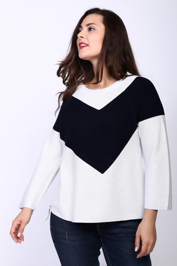 Пуловер OuiПуловеры<br><br><br>Размер RU: 52<br>Пол: Женский<br>Возраст: Взрослый<br>Материал: хлопок 50%, шелк 10%, вискоза 40%<br>Цвет: Серый