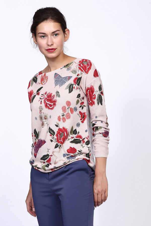 Пуловер OuiПуловеры<br><br><br>Размер RU: 50<br>Пол: Женский<br>Возраст: Взрослый<br>Материал: хлопок 100%<br>Цвет: Разноцветный
