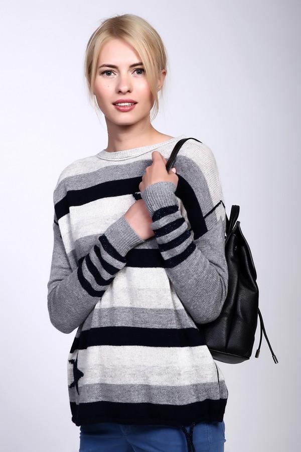 Пуловер OuiПуловеры<br><br><br>Размер RU: 48<br>Пол: Женский<br>Возраст: Взрослый<br>Материал: полиамид 20%, шерсть 45%, вискоза 35%<br>Цвет: Разноцветный
