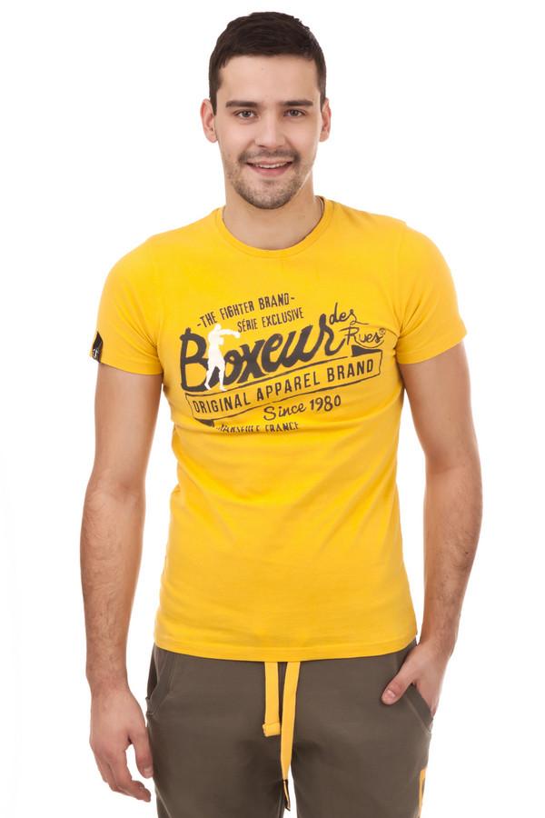 Футболкa Boxeur Des RuesФутболки<br>Мужская футболка бренда Boxeur Des Rues прямого кроя выполнена в желтом цвете. Изделие дополнено: круглым вырезом и короткими рукавами. Футболка декорирована принтом оливкового цвета с названием и символикой бренда.<br><br>Размер RU: 48<br>Пол: Мужской<br>Возраст: Взрослый<br>Материал: хлопок 100%<br>Цвет: Жёлтый